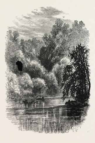 View on the Brandywine, USA, 1870s--Stretched Canvas Print