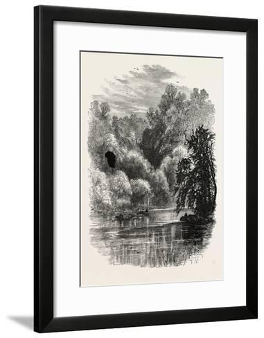 View on the Brandywine, USA, 1870s--Framed Art Print