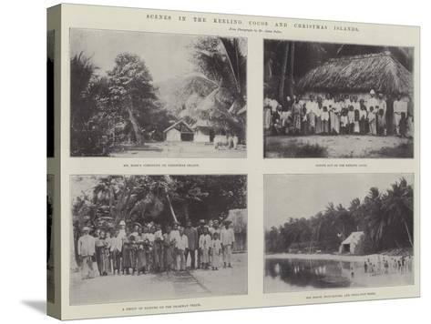 Scenes in the Keeling Cocos and Christmas Islands--Stretched Canvas Print