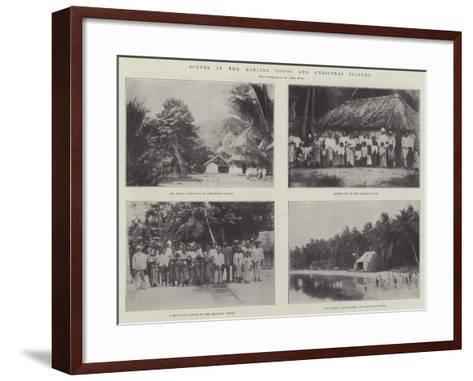 Scenes in the Keeling Cocos and Christmas Islands--Framed Art Print