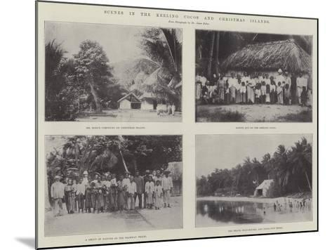 Scenes in the Keeling Cocos and Christmas Islands--Mounted Giclee Print