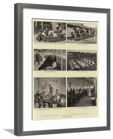 Fighting the Plague at Poona, the General Plague Hospital--Framed Art Print