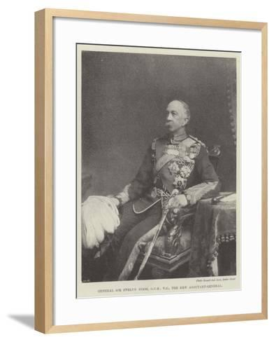 General Sir Evelyn Wood, the New Adjutant-General--Framed Art Print