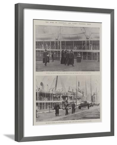 The Duke of Cornwall and York's Colonial Tour--Framed Art Print