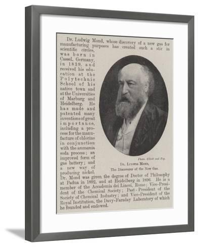Dr Ludwig Mond, the Discoverer of the New Gas--Framed Art Print