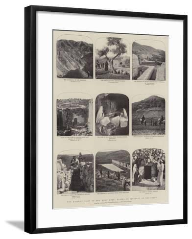 The Kaiser's Visit to the Holy Land, Scenes of Interest on His Route--Framed Art Print