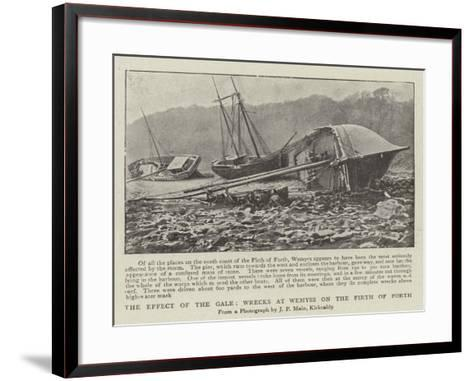 The Effect of the Gale, Wrecks at Wemyss on the Firth of Forth--Framed Art Print