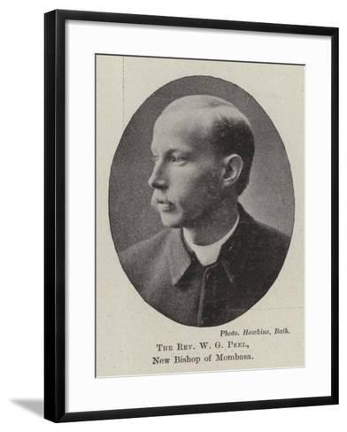 The Reverend W G Peel, New Bishop of Mombasa--Framed Art Print
