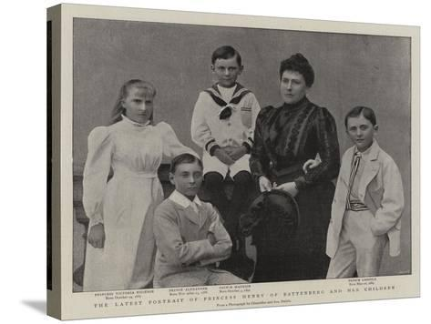 The Latest Portrait of Princess Henry of Battenberg and Her Children--Stretched Canvas Print