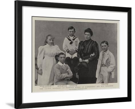 The Latest Portrait of Princess Henry of Battenberg and Her Children--Framed Art Print