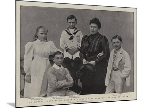 The Latest Portrait of Princess Henry of Battenberg and Her Children--Mounted Giclee Print