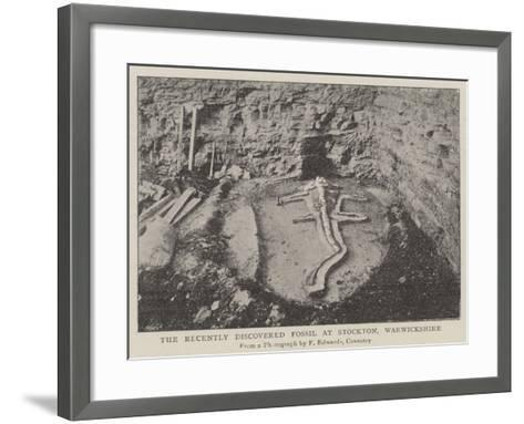 The Recently Discovered Fossil at Stockton, Warwickshire--Framed Art Print