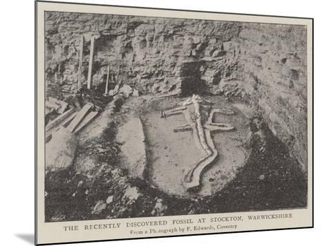 The Recently Discovered Fossil at Stockton, Warwickshire--Mounted Giclee Print