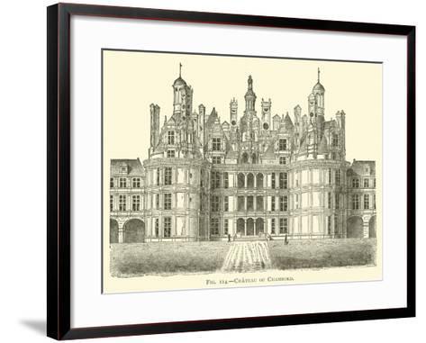 Chateau of Chambord--Framed Art Print