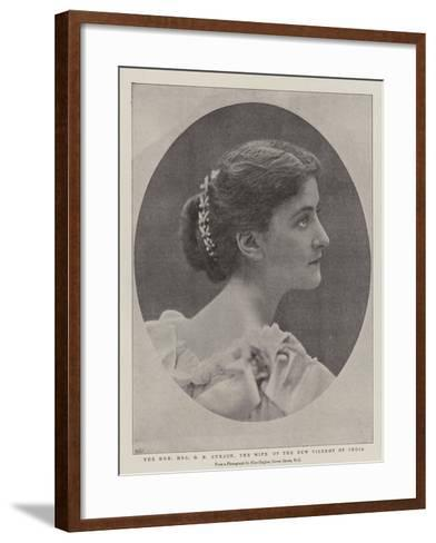 The Honourable Mrs G N Curzon, the Wife of the New Viceroy of India--Framed Art Print