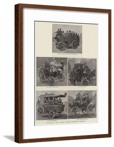 Carriages of the Future, Types of the Horseless Vehicles--Framed Art Print