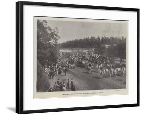 President Kruger's Visit to Johannesburg on 1 April--Framed Art Print