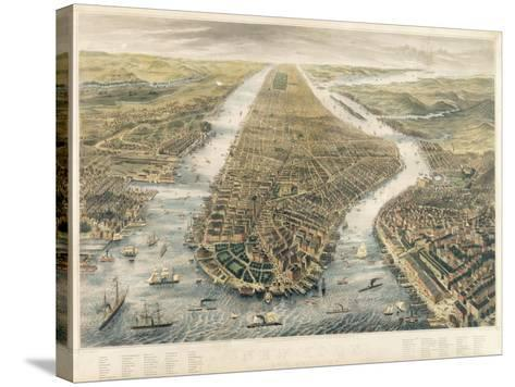 New York and its Environs, 1867--Stretched Canvas Print