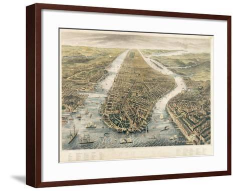 New York and its Environs, 1867--Framed Art Print