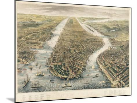 New York and its Environs, 1867--Mounted Giclee Print