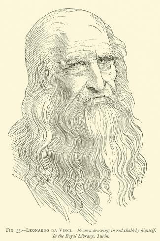Leonardo Da Vinci--Stretched Canvas Print