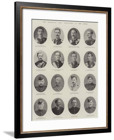 The Transvaal War, Casualties at the Front--Framed Art Print