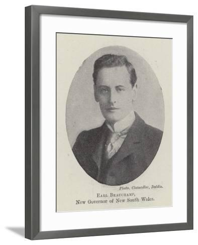 Earl Beauchamp, New Governor of New South Wales--Framed Art Print