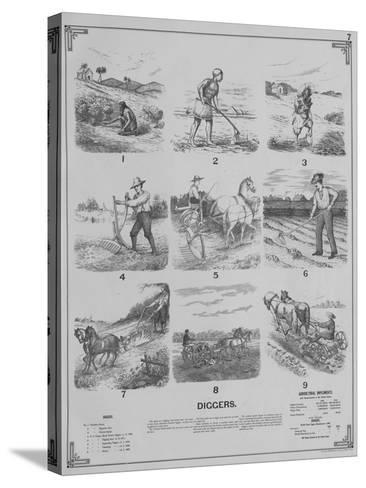 Agricultural Implements - Diggers, 1892--Stretched Canvas Print