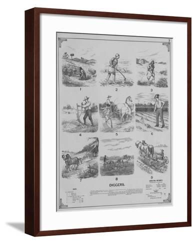Agricultural Implements - Diggers, 1892--Framed Art Print