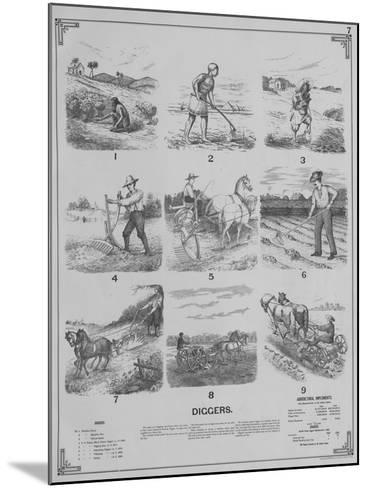 Agricultural Implements - Diggers, 1892--Mounted Giclee Print