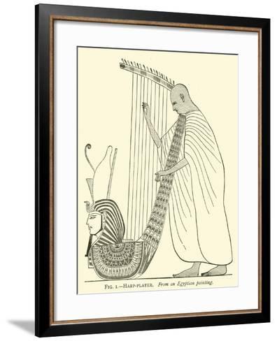 Harp-Player--Framed Art Print