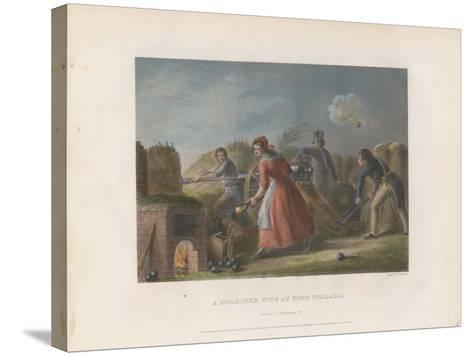 A Soldier's Wife at Fort Niagara, 1860--Stretched Canvas Print
