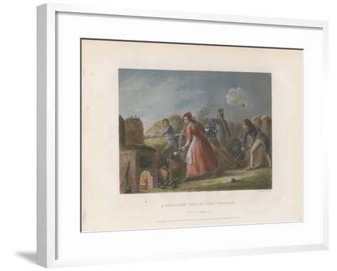 A Soldier's Wife at Fort Niagara, 1860--Framed Art Print