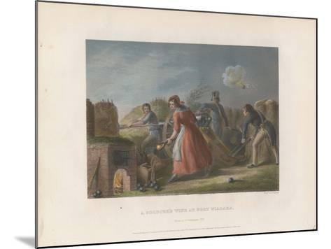 A Soldier's Wife at Fort Niagara, 1860--Mounted Giclee Print