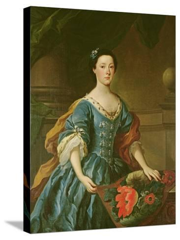 Portrait of Jane Allgood, C.1745-50--Stretched Canvas Print