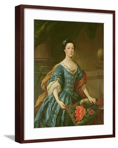 Portrait of Jane Allgood, C.1745-50--Framed Art Print