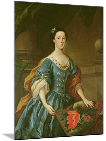 Portrait of Jane Allgood, C.1745-50--Mounted Giclee Print