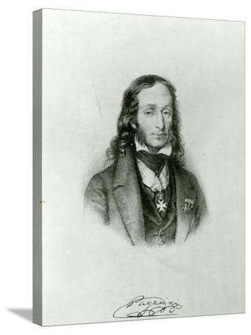 Niccolo Paganini (1782-1840)--Stretched Canvas Print