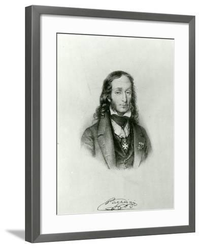 Niccolo Paganini (1782-1840)--Framed Art Print