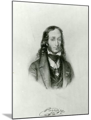 Niccolo Paganini (1782-1840)--Mounted Giclee Print