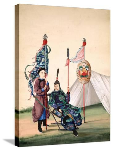 Chinese General with Standard-Bearer, C.1810--Stretched Canvas Print
