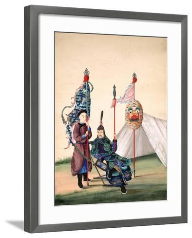 Chinese General with Standard-Bearer, C.1810--Framed Art Print