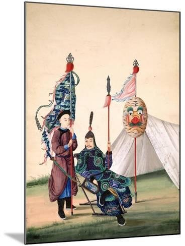 Chinese General with Standard-Bearer, C.1810--Mounted Giclee Print