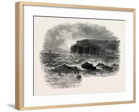 View on the Coast of Maine, USA, 1870s--Framed Art Print