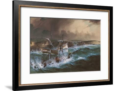 Wreck of the 'Star of Greece', C.1888--Framed Art Print