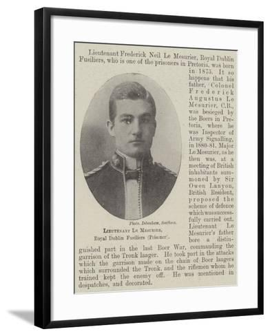 Lieutenant Le Mesurier, Royal Dublin Fusiliers--Framed Art Print
