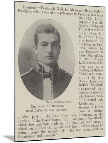Lieutenant Le Mesurier, Royal Dublin Fusiliers--Mounted Giclee Print
