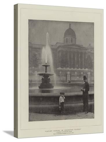 Caught Fishing in Preserved Waters, a Tragedy in Trafalgar Square--Stretched Canvas Print