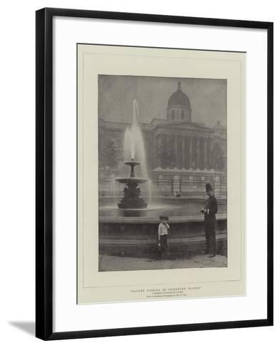 Caught Fishing in Preserved Waters, a Tragedy in Trafalgar Square--Framed Art Print