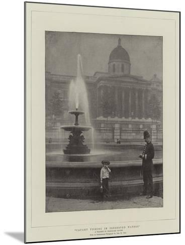 Caught Fishing in Preserved Waters, a Tragedy in Trafalgar Square--Mounted Giclee Print
